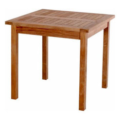 Anderson Teak - Bahama 35-inch Square Table Small Slats - This bistro table is perfect for restaurant, cafe or place where space is limited.� Table can be used with any mix and match chairs.� It seats two to four people.�