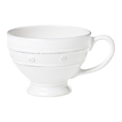 Berry and Thread Breakfast Cup - Whitewash - The Berry and Thread Breakfast Cup imparts a cheery sophistication to your morning. Sip a freshly brewed tea or an aromatic coffee from this delightfully designed cup, with its simple adornment of berries and thread. Not just for mornings, this amply sized cup may also hold a creamy cocoa perfect for chasing away the chill of a winter's eve.
