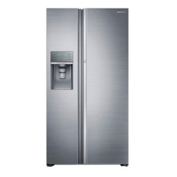 """Samsung - RH22H9010SR 36"""" Wide  22 Cu. Ft. Counter Depth  Energy Star Rated  Side-by-Side - This Samsung side-by side refrigerator will give you the space you desire in a beautiful sleek design that will look great in any kitchen The side-by-side refrigerator comes with a Food ShowCase Fridge Door that gives you easy reach of key items that..."""