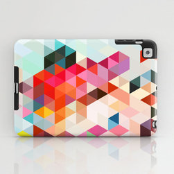 Through the Kaleidoscope iPad Mini Case - Protect your beloved gadget/tablet with a bright, uplifting one-piece case. This impact-resistant hard-shell case has a slim profile and lay-flat feature that makes it extremely portable and easy to store in fashion purses, handbags, and cross-body satchels.