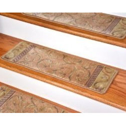 "Dean Flooring Company - Dean Premium Carpet Stair Treads - Peach Scrollwork (13) Size 26"" x 9"" - Dean Premium Carpet Stair Treads - Peach Scrollwork (13) Size 26"" x 9"" : Beautiful Plush Premium Carpet Stair Treads by Dean Flooring Company Luxurious and Resilient Texture High Fashion Design with Beautiful Scroll Work Densely Woven Construction 100% Opulon (Polypropylene and Acrylic) Uncommon Softness and Durability Premium Quality Broadloom is Woven Face-to-Face on State-of-the-Art Wilton Looms Stylish Enough to Compliment the Finest Decors Color: Peach Approximately 26.25 inches by 9 inches Set Includes 13 Pieces Each tread is machine serged with color matching yarn Prevents slips on your hardwood stairs Provides warmth and comfort Extends the life of your hardwood stairs Easy do-it-yourself installation with Doubles Sided Carpet Tape (Not Included-sold separately) Add a touch of warmth and style to your stairs today!"