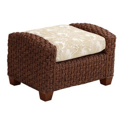 Home Styles - Home Styles Cabana Banana II Ottoman in Cinnamon Finish - Home Styles - Ottomans - 540490 - Bring back the island essence with the Cabana Banana II Ottoman from Home Styles. This eco-friendly piece features frames that are made of 100 percent sustainable natural materials. Construction is from hand braided, four over two woven pattern, banana leaves; mahogany solids, and plywood in a cinnamon finish.
