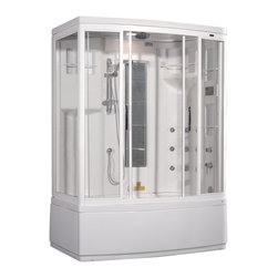 Ariel - Ariel ZAA208 Steam Shower w/ Whirlpool Bathtub 59x36x87 - Right - These fully loaded steam showers include a whirlpool bathtub, massage jets, and built in FM Radio for Easy Listening s to help increase your therapeutic experience.