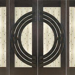 """Prehung Prehung Double 2-1/4"""" Thick Mahogany Doors Sidelites Art Glass Iron Work - SKU#NW-1687-Ext-2-2BrandAAWDoor TypeExteriorManufacturer CollectionNew World DoorsDoor ModelDoor MaterialWoodWoodgrainMahoganyVeneerPrice8728Door Size Options2(30"""")+2(18"""") x 80"""" (8'-0"""" x 6'-8"""")  $02(36"""")+2(18"""") x 80"""" (9'-0"""" x 6'-8"""")  +$602(30"""")+2(18"""") x 96"""" (8'-0"""" x 8'-0"""")  +$7282(36"""")+2(18"""") x 96"""" (9'-0"""" x 8'-0"""")  +$788Core TypeSolidDoor StyleModern , CircleDoor Lite StyleFull Lite , 1 LiteDoor Panel StyleHome Style MatchingContemporaryDoor ConstructionEngineered Stiles and RailsPrehanging OptionsPrehungPrehung ConfigurationDouble Door with Two SidelitesDoor Thickness (Inches)2.25Glass Thickness (Inches)3/4Glass TypeTriple GlazedGlass CamingGlass FeaturesInsulated , Tempered , BeveledGlass StyleClear , Matte , Art Glass , Squares AccentsGlass TextureClear , Matte , Art Glass , Squares AccentsGlass ObscurityDoor FeaturesDoor ApprovalsFSCDoor FinishesDoor AccessoriesWeight (lbs)1190Crating Size25"""" (w)x 108"""" (l)x 52"""" (h)Lead TimeSlab Doors: 7 daysPrehung:14 daysPrefinished, PreHung:21 daysWarranty1 Year Limited Manufacturer WarrantyHere you can download warranty PDF document."""