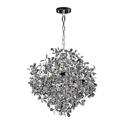 """Maxim - Maxim Comet 25"""" Wide Chrome and Crystal Chandelier - Avant-garde and outlandish, this polished chrome crystal chandelier is more than just its function; the Maxim Comet Chandelier is also a piece of art. This contemporary chrome and crystal chandelier has a dazzling display of reflective surfaces that will bring brilliance to your living space. Bright polished chrome """"comets"""" seem to burst forth with a single beveled crystal bead at the center of the comet's head. Just one of the sparkling fixtures from the Comet Collection by Maxim Lighting."""