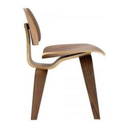 Fine Mod Imports - Modern Dining Chair in Walnut Finish - Made of plywood. 22 in. W x 19 in. D x 29 in. H