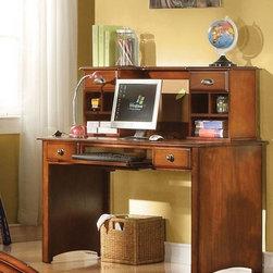 Acme Furniture - Brandon Oak Finish Wood Student Desk - 11019 - Brandon Collection Student Desk