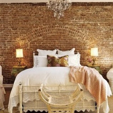 my apartment ideas / exposed brick wall in the bedroom