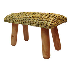 BrandWave - Milking Stool, Water Hyacinth, Natural - Water Hyacinth is one of the fastest-growing plants in the world. Its regenerative properties allow it to double in size every 5-15 days. The milking stool collection is hand-woven from this beautiful fiber. This process creates a unique, all-natural look, with no single stool identical to another. Indigenous to the water hyacinth fiber are the natural characteristics of its color.