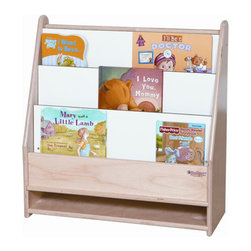 Wood Designs - Toddler Bookshelf - Features: -Bookshelf. -Tuff gloss finish. -Solid 11 ply baltic birch plywood construction. -3 Book shelves with additional storage for materials is a perfect fit for any toddler classroom. -Markerboard on the back side provides extra writing surface. -All surfaces and back are 100 percent Healthy Kids plywood. -Made in USA. -Manufacturer provides lifetime warranty.