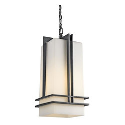 Kichler - Kichler Tremillo 1-Light Black (Painted) Outdoor Pendant - 49205BKFL - This 1-Light Outdoor Pendant is part of the Tremillo Collection and has a Black (painted) Finish. It is Energy Efficient, and Title 24 Compliant.