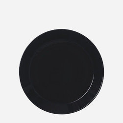 """iittala - Teema 6.75"""" Bread And Butter Plate Black (Set of 3) - The Teema collection is based on familiar and basic shapes  a circle, a square and a rectangle. Honored in design museums around the world, the original, unconventional tableware features ultimate combinability that is limited only by your imagination. All Teema pieces are produced in white, olive, blue, brown and black. Each year, select pieces are offered in limited production colors allowing for the selection of accent colors to enhance your existing collection. These fashion colors change yearly, and are rarely brought back into production. The ultimate combinability collection, Teema's possibilities are endless. Features: -Oven safe -Microwave safe -Dishwasher safe -Freezer safe -Overall dimensions: 6.75"""" Diameter"""