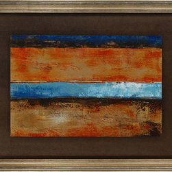 Paragon Decor - Vintage Barnwood II Artwork - Exclusive Hand Painted Mixed Media - Mounted on Board