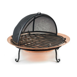 Good Directions - Good Directions 771 Medium Wood Burning Fire Pit Polished Copper - Hand-hammered copper Fire Pits add warmth and comfort to the backyard, beach or patio. The ceremonial center of outdoor life, fire pits add warm ambience and extend entertaining into the wee hours. The deep copper basin cradles wood or coal, allowing it to burn easily and create a captivating blaze.Perfect for backyard or patio entertainingPortable for beach or picnicHand-hammered from the thickest gauge copper in the industryIncludes sturdy wrought iron stand and grateDesigned to withstand the elementsHeight: 8''Width:  30''Length:  30''Weight:  29 lbs.