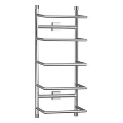 Brushed Steel Wall-Mount Towel Rack - If you don't have room for a linen cabinet, why not take a tip from hotels and hang a vertical rack for rolled up towels? It will seem like you're on vacation!