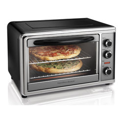Hamilton Beach - Hamilton Beach 31104 12-inch Pizza Countertop Toaster Oven - Small enough to fit on your kitchen counter,this Hamilton Beach toaster oven offers enough interior space to cook two 12-inch pizzas. This energy efficient counter top oven features convection and rotisserie settings for added cooking power.