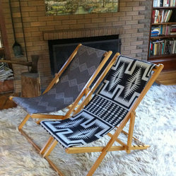 Vintage Reclining Wood Deck Chair by Indian VS Indian