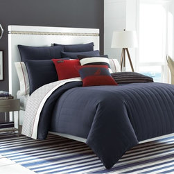 Mainsail Navy Twin Comforter Set - Red, white and blue are classic American colors, and they go so well together. Bedding works perfectly in the color scheme because it's easy to mix and match pieces.