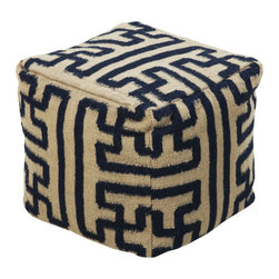 Jigsaw Pouf - You don�t have to piece it together to understand our affinity for this cozy and versatile pouf. We love its unique design and 100% wool construction, perfect for kicking up your feet at the end of a long day or having an extra seat for your popular game nights.