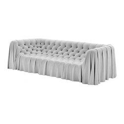 EcoFirstArt - Bohemian Sofa - This bohemian sofa would instantly be the centerpiece of a retro-chic gathering place. Faux suede and a draped design mixes modern and antique styles seamlessly. Made from sustainable organic fabric, this settee is a crown jewel of couches.