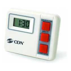 CDN Digital Kitchen Timer 20 Hour TM2 - For lengthier tasks  CDN TM2 digital timer is ideal. The timer counts by hours and minutes. Made of food-safe ABS plastic. Battery and instructions included. 5-year limited warranty.      Product Features                          Instrument Range: 20 hours by hr/min            Counts down            Stop and restart            Food-safe ABS plastic            3-way mounting: pocket clip/magnet/stand            1.5V Button IEC LR44 Alkaline