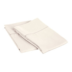 600 Thread Count King Pillowcase Set Cotton Rich, Ivory - Surround yourself in the classic elegance of Impressions Hem Stitch pillowcase set. This design features hem stitching which is a classic method used to put two pieces of fabric together using a an insertion stitch to give off the appearance of lace.