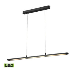 Elk Lighting - Elk Lighting 50003/LED Lino Collection LED chandelier in Matte Black - Lino is a linear LED light fixture, finished in Matte Black, that will enhance an island or dining room table with its slim design and crisp, functional light.