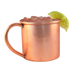 Custom Copper Mugs, LLC - 16 oz Copper Mug - Our Moscow Mule Mugs are constructed of 100% pure copper. We apply a food-safe lacquer that resists tarnishing for lasting beauty and luster. The mug of choice when serving the infamous Moscow Mule--a cocktail made from a blend of vodka, ginger beer, and lime juice. The copper mug enhances the flavor and keeps the drink colder, longer.