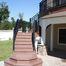 Contemporary Staircase by Deck Remodelers.com