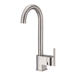 """Danze - Danze D151542SS One Handle Bar Faucet Stainless Steel - Danze D151542SS is part of the Como Kitchen collection.  D151542SS Single Handle Bar Faucet with 5 1/2"""" long and 13 1/4"""" high swivel spout, and a full 9 5/8"""" from deck to aeraotor.  D151542SS has a Stainless Steel finish.  The Como collection carries a high-end style at a not so high-end price.  D151542SS side mount single lever handle provides ease of operation.  D151542SS Stainless Steel is an exclusive finish from Danze and provides style and durability.  D151542SS meets all requirements of ADA, ASME A112.18.1, CSA B 125, and UPC/cUPC, NSF 61-9 Energy policy act 1992.  D151542SS has a Lifetime Limited Warranty.  California and Vermont  Compliant."""