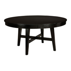 Standard Furniture - Standard Furniture Bryant 52 Inch Round Dining Table in Black - Bryant Dining recreates the cool character of progressive 60s Modern style, updated for the way we live today.