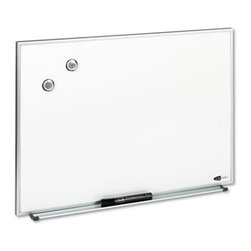 Quartet - Quartet 23 x 16 in. Magnetic Dry Erase Board Multicolor - QRTM2316 - Shop for Dry Erase Boards from Hayneedle.com! Use the Quartet 23 x 16 in. Magnetic Dry Erase Board to post messages and notes in offices. This erase board comes with a dry erase marker magnets and an attachable marker tray. The magnetic board works as a dry-erase board and as a bulletin board. Its aluminum frame will add style and durability to this erase board. It comes with mounting hardware to hang the board vertically or horizontally to suit your needs.About United StationersDedicated to making life in the office more organized efficient and easier United Stationers offers a wide variety of storage and organizational solutions for any business setting. With premium products specifically designed with the modern office in mind we're certain you will find the solution you are looking for.From rolling file carts to stationary wall files every product in the United Stations line is designed with one simple goal: to improve office efficiency. In turn you will find increased productivity happier more organized employees and an office setting that simply runs better with the ultimate goal of increasing bottom line profits.