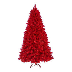 Ashley Red Christmas Tree - Are you raring for a unique and fiery Christmas this year? Then our red Christmas tree is the one for you! Sporting a gorgeous rouge color down to the tree stand, our Ashley Red Tree is a delightful take on a ruddy Christmas. Expertly pre-strung red lights beautifully set off the red PVC needles, creating a hearty glow in your home. This Christmas, allow the sizzling sophistication of our Red Ashley Christmas tree to set your home ablaze with holiday cheer.