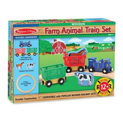 Melissa & Doug - Melissa and Doug Farm Animal Train Set Multicolor - 644 - Shop for Vehicle Playsets and Accessories from Hayneedle.com! About Melissa & Doug ToysSince 1988 Melissa & Doug have grown into a beloved children's product company. They're known for their quality educational toys and items and have grown in double digits annually. The Melissa & Doug company has been named Vendor of the Year by such great retailers as FAO Schwarz Toys R Us and Learning Express and their toys have been honored as Toys of the Year by Child Magazine FamilyFun Magazine and Parenting Magazine. Melissa & Doug - caring quality children's products.