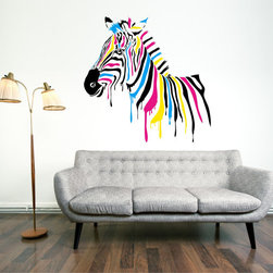 Zebra Color Decal by SBL Design - I love the colors in this zebra wall decal.