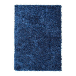 Jaipur Rugs - Shag Solid Pattern Polyester Blue/ Area Rug (3.6 x 5.6) - Personal expression reaches new heights with flux, a beautiful range of plush, hand-woven shag rugs of 100% polyester. This chameleon is ideal for the contemporary design lover who enjoys mixing up his or her personal space often acting as a rich background to a diverse palette of furnishings and accessories. Highly textured shag construction brings comfort underfoot while a palette of fashion forward solid hues commands attention in any room.