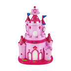 Pink Princess Castle Piggy Bank Money Coin - This adorable pink princess castle piggy bank is a great gift for your Princess. The bank measures 8 inches tall, 4 1/2 inches wide and 3 1/2 inches deep. The bank empties via a twist off plastic piece on the bottom. It is hand-painted.