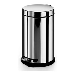 WS Bath Collections - Otel Treadle Trash Bin in Stainless Steel - Made by Lineabeta of Italy. Product Material: Stainless Steel. Finish/Color: Silver. Dimensions: 8.9 in. Diameter x 12 in. H