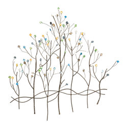 Upton Home - Upton Home Gemstone Forest Wall Sculpture - This decorative wall sculpture adds style to any room. Made from durable metal,this unique art piece features a gemstone forest. It is finished in bronze and comes ready to hang like a normal picture,making this a great addition to any decor.