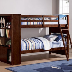 Espresso Twin-Twin Bunk Bed - This Twin over Twin Bunk Bed is the perfect choice for your child's room with a rich espresso finish.