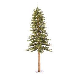 "Vickerman - Natural Alpine Tree 475T 150CL (5' x 48"") - 5' x 48"" Natural Alpine Tree with 475 Tips, 150 Clear Lights"