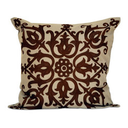 None - Marisa 20-inch Down Throw Pillow - This down throw pillow will be the perfect accessory to add that finishing touch to your decor. The zipper removable cover is 100-percent for softness and durability.