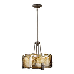 Murray Feiss - Murray Feiss Aris Modern / Contemporary Chandelier X-ZBR4/1962F - The amber alabaster glass shades create scenic lighting with a textured glow. The rectangular tube arms steadily support the glass shades in a circular pattern. The rich Roman bronze finish provides a rustic appeal to the chandelier. The Murray Feiss Aris contemporary chandelier is compatible to brighten an intimate space setting.