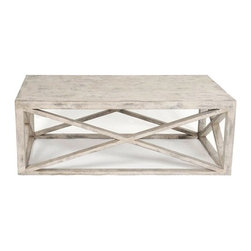Tritter Feefer Home Collection Madame X Coffee Table - An easy going distressed X-shaped coffee table.