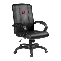 Dreamseat Inc. - Football Quarterback Throw Home Office Chair - Check out this Awesome - it's one of the coolest things we've ever seen. Features a zip-in-zip-out logo panel embroidered with 70,000 stitches. Converts from a solid color to custom-logo furniture in seconds - perfect for a shared or multi-purpose room. Root for several teams? Simply swap the panels out when the seasons change. This is a true statement piece that is perfect for your Man Cave or Home Office, and it's a must-have for the person who wants to personalize their work space.
