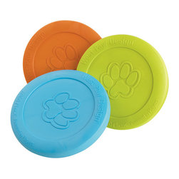 West Paw Design Zisc - The Zisc is a fresh new idea in the world of flying discs and is designed with all the benefits to keep your dog happy. Engineered from our incredibly soft, yet durable Zogoflex material, the Zisc flies through the air with speed and accuracy. Its pliable material allows your dog to pick it up from flat surfaces with ease and will not hurt or damage their soft mouth. In your backyard, at the park or on the water (it floats), the Zisc is the must have interactive toy of the seasonZisc is d durable - even against the destructive fetchers While Zisc is not designed to be a chew toy, it is designed to hold up for months and months (if not years and years) of daily fetch playing. This amazing toy is also designed to be recyclable Available in three engaging colors: Aqua Blue, Granny Smith Green and Tangerine Orange.Dimension: 8.5dia. Made in Montana, USA.