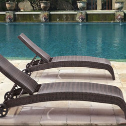 Zuo Modern - Lido Brown Lounge - Made of strong aluminium with synthetic weave covering. Finished in Brown, the lounge will suit to any classic and modern outdoor space. Pair it with the other Zuo pieces to create a harmonious look (available at ba-style.com).