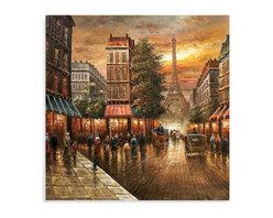 Bassett Mirror - Bassett Mirror Hand-Painted Canvas, Paris Nights - Paris Nights