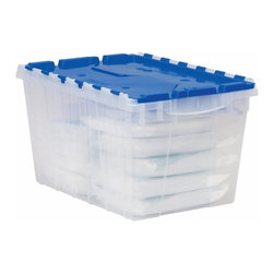 Akro-Mils - KeepBox with Attached Lid, 12-Gallon Plastic Storage - Organize your home office ...