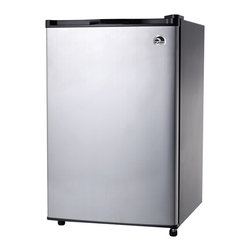 Curtis - Igloo 4.6 Cubic Feet Stainless Steel Door Refrigerator - Styled with a sleek stainless steel door,this refrigerator is just as functional as it is stylish. Igloo creates this refrigerator with low energy consumption features and an included freezer.